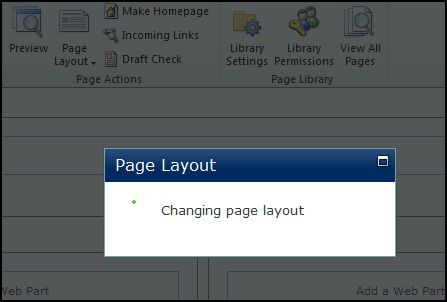 SP2010 - Changing Page Layout