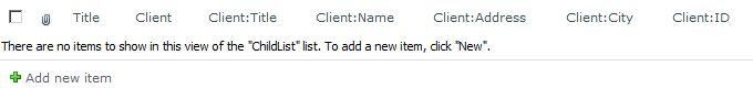 Client list after adding the lookup column